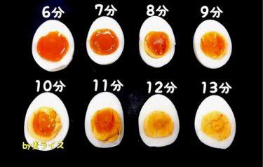 これは一生使える!?半熟具合が一目で分かる「ゆで卵の時間表」が話題 料理人の使えるテクも続々と披露