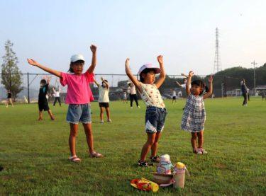 待ちに待った夏休み 雲仙で市民ラジオ体操会