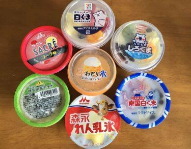 夏本番! かき氷カップアイス、7種食べ比べ!