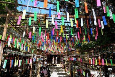 九州各地で猛暑 風鈴6000個で耳から涼しく