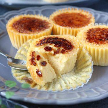 マフィン型で作る!キャラメリゼチーズケーキのレシピ
