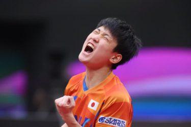 張本智和「ほっとした」逆転で銅メダル獲得!2大会連続の表彰台<卓球 男子W杯>