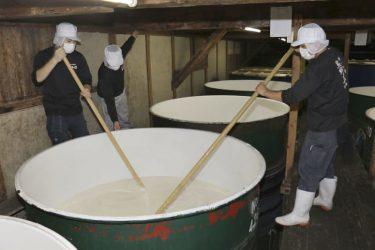 正月向けに新酒の初搾り、和歌山