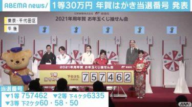 1等は30万円か電子マネー31万円分 お年玉付き年はがきの当せん番号が決まる