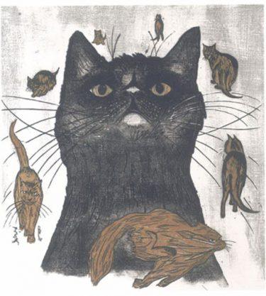 木版画家・高橋孝夫さんの個展「ようこそ、猫の館へ!」ほっこり作品約70点@ さいか屋藤沢店
