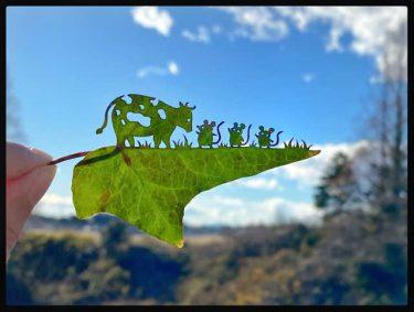 ADHDに気づいて人生が変わる…サラリーマンから、僕にしかできない「葉っぱ切り絵」の世界へ