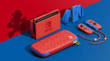 ゲオ、「Nintendo Switch マリオレッド×ブルー セット」抽選販売。2/8 11時受付開始