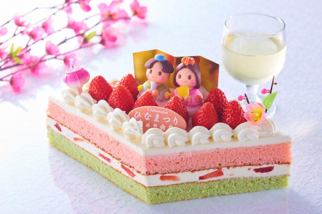 シャトレーゼのひなまつりケーキ「桃の節句 苺のひし形デコレーション」