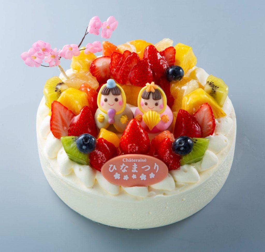 シャトレーゼのひなまつりケーキ「桃の節句 フルーツショートデコレーション」