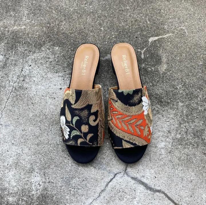Relier81(ルリエ エイトワン)のサステナブルなスニーカー「Obi Fabric Sandals Ⅱ」
