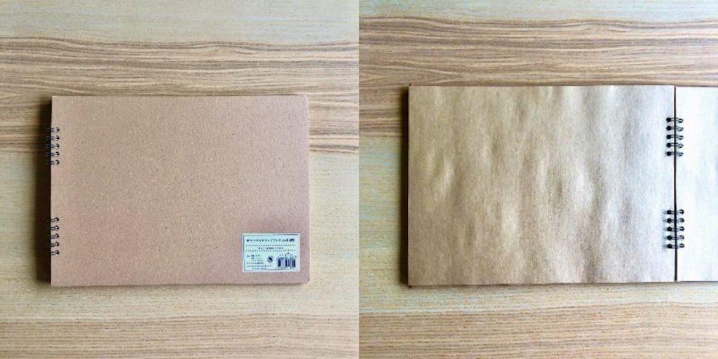 セリアで買えるスクラップブックの材料「Wリングスクラップブック 20枚 横型」
