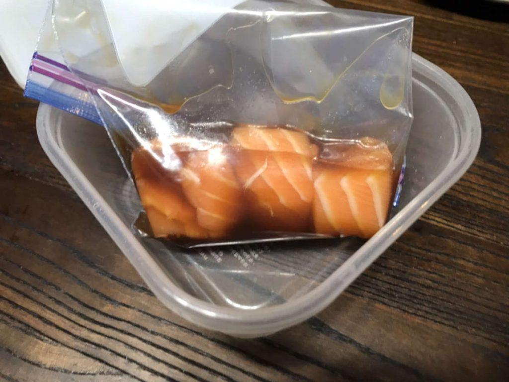 コストコサーモンフィレの冷凍・解凍方法(下味つけた場合)