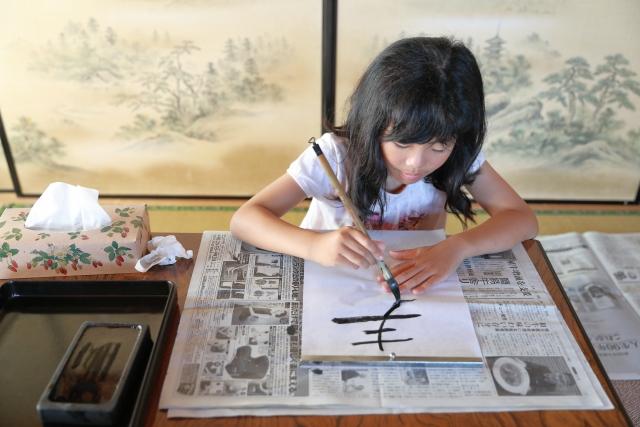 子供の習い事「書道・習字」のイメージ