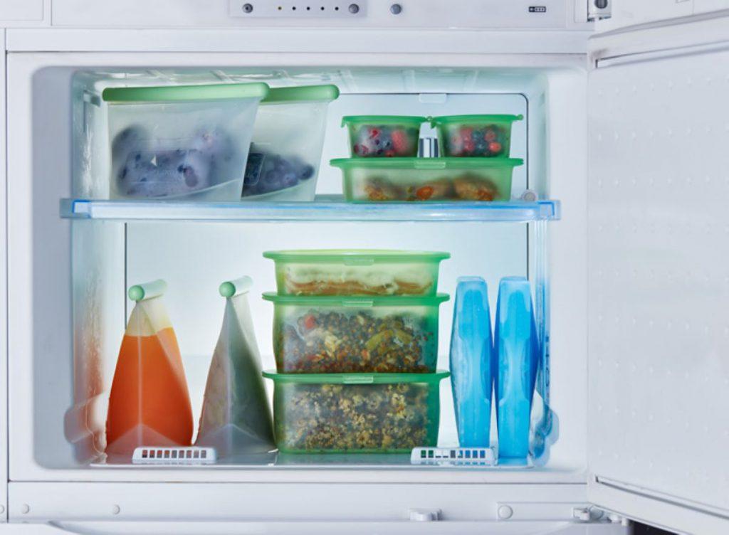 重ねる収納で冷蔵庫内がスッキリ!Lekueの「リユーサブルシリコンボックス」