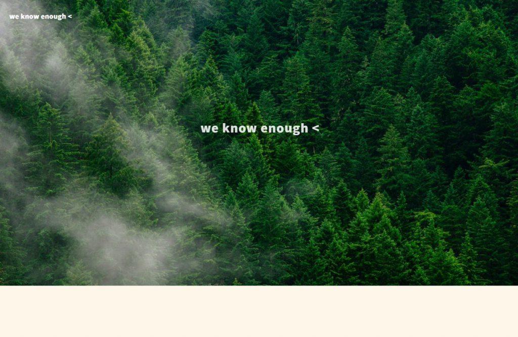 「we know enough < 」のSDGs目標15への取り組み事例