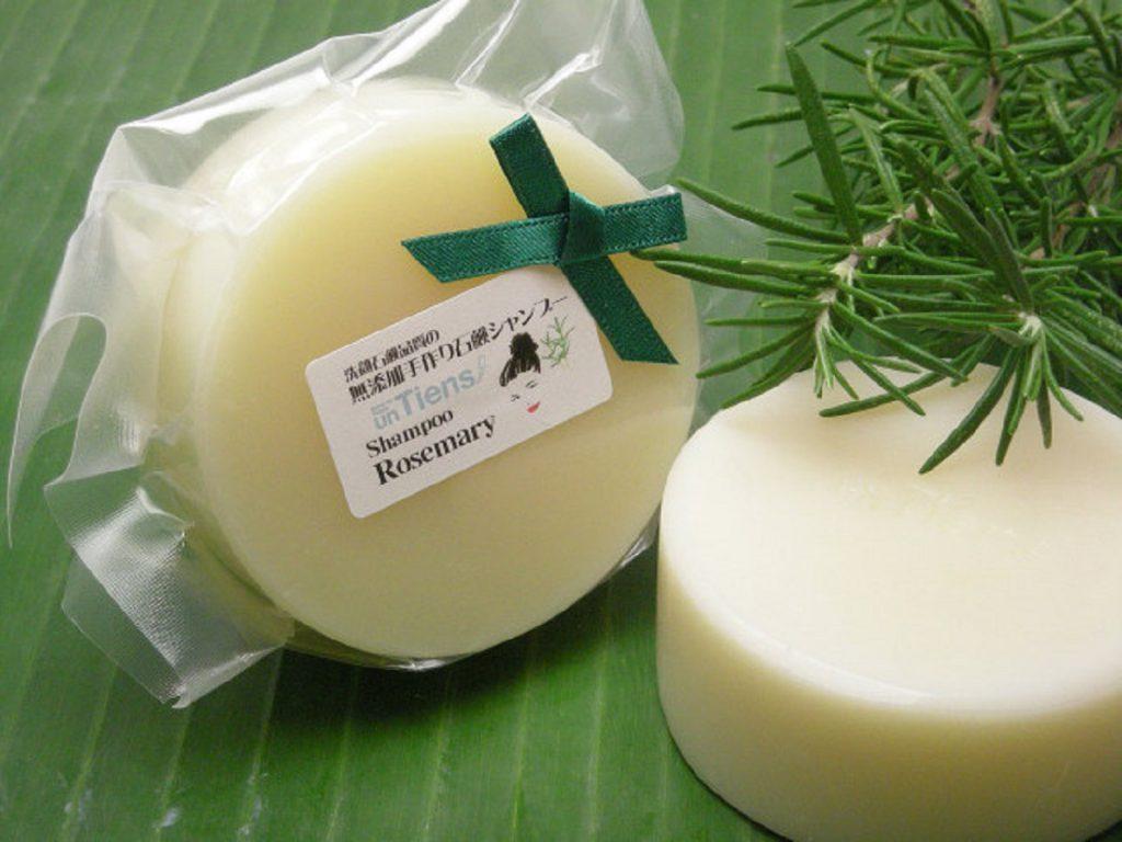 時間をかけてじっくり丁寧に作る石鹸:アンティアン「手作り固形石鹸シャンプー・ローズマリー」